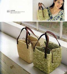PATRONES GRATIS DE CROCHET: patrón de un bolso cuadrado a crochet