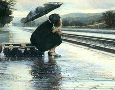 Free Art, Train Station, Visual Arts, Painting Wallpaper, Background and Image