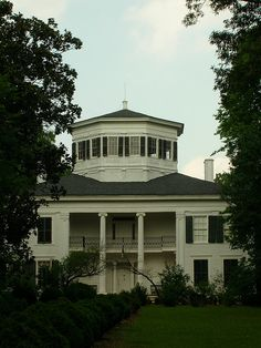 Waverly Mansion - antebellum plantation house with an octagonal tower in Columbus, Mississippi.