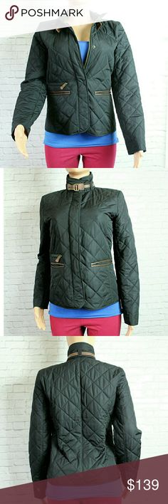 """Ralph Lauren Black Quilted Jacket Gorgeous and rare black quilted jacket. Perfect for those cold winter months ahead. Has Faux brown leather lining the pockets and a clasp along the collar.   Fully lined. EUC  Size Small  Bust 18"""" Length 24"""" Ralph Lauren Jackets & Coats"""