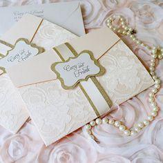 CARY invitación de la boda de Blush con por PaperLaceBoutique
