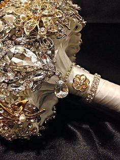 Silver Gold Wedding Brooch Bouquet (Best Wedding and Engagement Rings at…