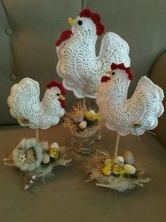 Galline crochet # crochet ideas easter free, # crochet # crochet ideas christmas Crocheted Easter egg with DROPS Lace Crochet Kitchen, Crochet Home, Knit Crochet, Crochet Round, Easter Crochet Patterns, Vintage Crochet Patterns, Yarn Crafts, Sewing Crafts, Diy And Crafts