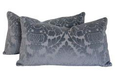 Damask Velvet & Linen Pillows, S/2 https://www.onekingslane.com/shop/debra-hall-lifestyle
