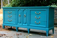 """Hollywood Regency Dresser by ExeterFields on Etsy - Love the style and color of this dresser but at 72"""" long it doesn't fit the space in my nursery. This company looks awesome though says they will customize pieces and paint colors."""