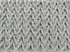 Crochet: Punto en Relieve con Zig Zag - YouTube