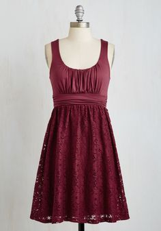 Artisan Iced Tea Dress in Raspberry. This sleeveless, scoop neck dress reminds us of a cool, sweet, raspberry-infused iced tea. #red #modcloth?utm_campaign=pdp_share