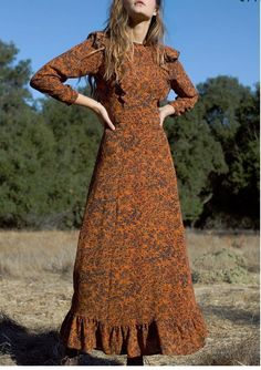 Floral Dry Clean Only Dresses for Women for sale Muslim Fashion, Modest Fashion, Hijab Fashion, Fashion Dresses, Fall Dresses, Pretty Dresses, Casual Dresses, Summer Dresses, Modest Outfits