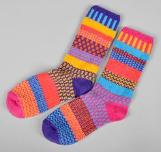 "SOLMATE SOCKS: ""Carnation"" Recycled Cotton Socks"