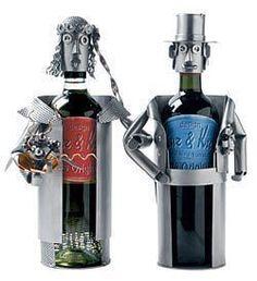 Hochzeitsgeschenk 2 Weinflaschenhalter - Hochzeitspaar . Schraubenmännchen-Paar Weinflaschenhalter Weinflaschenhalter sind beliebt als Hochzeitsgeschenk. Dieses witzige