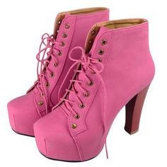 Amazing Suede Chalaza Lacing Rose Square Closed Toe Chunky Super High Heel Boots
