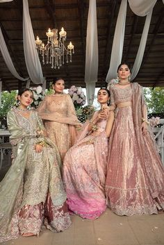 Shades of cyclamen pink lehenga paired with a rose pink choli and an embroidered organza dupatta. Desi Wedding Dresses, Party Wear Indian Dresses, Pakistani Dresses Casual, Designer Party Wear Dresses, Pakistani Bridal Dresses, Indian Wedding Outfits, Pakistani Dress Design, Bridal Outfits, Indian Bridal Fashion