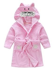 online shopping for TAIYCYXGAN Little Girl's Coral Fleece Bathrobe Unisex Kids Robe Pajamas Sleepwear from top store. See new offer for TAIYCYXGAN Little Girl's Coral Fleece Bathrobe Unisex Kids Robe Pajamas Sleepwear Childrens Pyjamas, Toddler Pajamas, Girls Pajamas, Hooded Flannel, Flannel Robe, Kids Robes, Velvet Shawl, Animal Pajamas, Girls Sleepwear