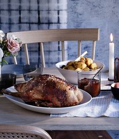 Brigitte Hafner recipe for roast duck with orange, bay, juniper and red wine.