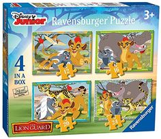 Disneys Lion Guard 4 in a Box Puzzles Ages 3 >>> You can get additional details at the image link-affiliate link.