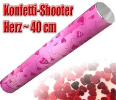6 XL Konfetti-Shooter Herz 40cm mit Folien-Herzen: Amazon.de: Spielzeug