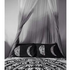 Image of Dark Side of the Moon Phase Pillow Case Set Dream Bedroom, Home Bedroom, Bedroom Decor, Bedrooms, Bedroom Inspo, Cute Bedroom Ideas, Boho Room, Room Goals, My New Room
