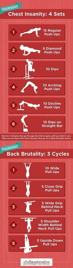 calisthenics workout plan thursday