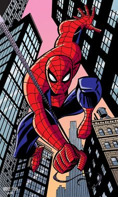 (Spiderman) By: Bruce Timm. (Old School Spiderman) [THANK U 4 PINNING!] - Visit to grab an amazing super hero shirt now on sale! Marvel Comics Superheroes, Marvel Art, Marvel Heroes, Marvel Avengers, Bruce Timm, Comic Book Artists, Comic Book Characters, Spiderman Kunst, Spiderman Poses