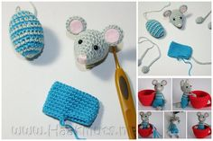 crochet mouse with shorts! the cute!!  must make.