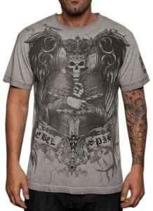 Rebel Spirit Evil Ruler T-Shirt (Gray)