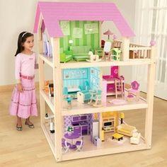 doll house from Costco! doll house from Costco! Girls Dollhouse, Wooden Dollhouse, Diy Dollhouse, Barbie Furniture, Dollhouse Furniture, Kids Furniture, Doll House Plans, Barbie Doll House, Miniature Houses