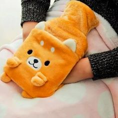 Keep warm this winter with the cutest Shiba Inu hot water bottle. Made of plush, with a special slot to warm your hands. Cute Office Desk Accessories, Baby Sleeping All Day, Back Pillow, Bag Packaging, Mlp My Little Pony, Shiba Inu, Dog Lover Gifts, Keep Warm, Small Bags
