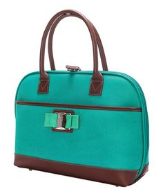 Look what I found on #zulily! Teal 19'' Padded Computer Bag #zulilyfinds