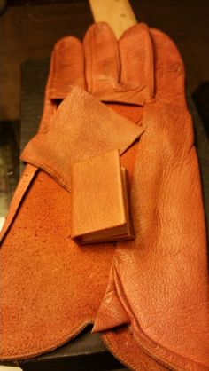 This is what I did with a nice old glove, made my own hardback leather bound Botany book from around 1800's.
