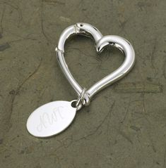 Buy Personalized Heart Keychain with Oval Tag. Gifts & Baskets - Personalized Heart Keychain with Oval Tag. Personalized Heart Keychain with Oval TagDETAILS: Not your ordinary keychain, this graceful personalized heart-shaped key holder is suitable for hi Personalized Anniversary Gifts, Personalized Gifts For Her, Engraved Gifts, Personalized Wedding, Monogrammed Bridesmaid Gifts, Silver Anniversary, Anniversary Ideas, Wedding Anniversary, Online Gifts