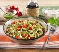 Recette Spaghetti au pesto, ricotta et aux tomates cerises