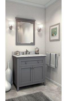 The Grey Cabinet Paint Color Is Benjamin Moore Kendall Charcoal - Kendall bathroom vanities