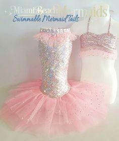 Poco traje de princesa sirena para vestir por Miamibeachmermaids