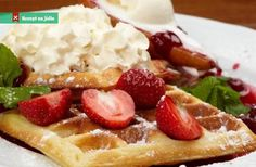 If you/re tired of spending money on waffles whenever you go out for breakfast, then learning how to. How To Make Breakfast, Good Food, Brunch, Food And Drink, Healthy Recipes, Cooking, Easy, Tired, Money