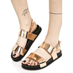 Zanadu Metallic Sandals ($30) ❤ liked on Polyvore featuring shoes, sandals, buckle sandals, ankle wrap shoes, wrap around ankle sandals, polish shoes and ankle strap sandals