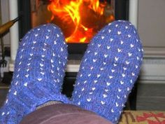 Thrummed slipper socks.