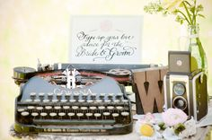 Inspiration for guest sign in. I want more elegant though...but yay typewriter!