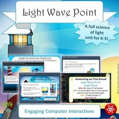 Explore Light Wave Point and discover the science behind light using this three-week unit! (Or purchase my Sound Wave Cove and Light Wave Point Combo Pack to SAVE!)Three weeks worth of lesson plans are aligned to the first-grade Next Generation Science Standards for light waves and are appropriate for K-5.