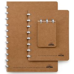 The Belgian ATOMA note-book system is 60 years old, and consists simply of circular rings and loose-leaf sheets of paper.