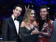 Cheeky! Harry Styles got a little hands on with singer Rita Ora on Sunday night's X Factor final as he put his hand close to her chest