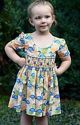 Detské oblečenie - Dievčenské šaty - Modrý pelikán - 5714103_