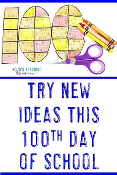 Use the ideas, activities, FREE downloads, and resources in this blog post to try something new and fresh on this years 100th Day of School. You'll find ideas for your 1st, 2nd, 3rd, 4th, 5th, and 6th grade students - and even an editable option for middle school. Click through to make this the best Day 100 yet!