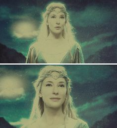 """""""Galadriel, most beautiful of all the house of Finwë; her hair was lit with gold as though it had caught in a mesh the radiance of Laurelin."""" #thehobbit #silm"""