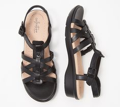 756e12a71ca Clarks Collection Leather Sandals - Loomis Katey. QVC