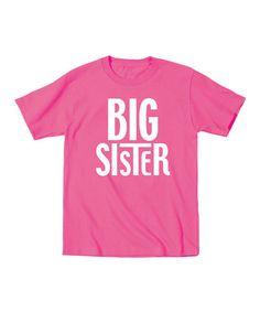 Loving this Raspberry 'Big Sister' Tee - Toddler  Girls on #zulily! #zulilyfinds