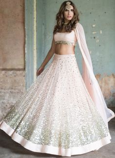 Shop Light Pink Color Net Lehenga Choli Online