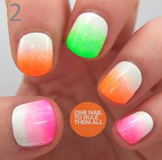 One Nail To Rule Them All: Neon gradient + tribal nails (and an announcement!)