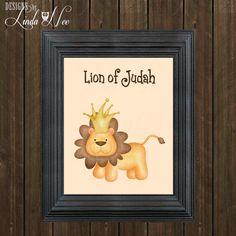 Lion of Judah Nursery Printable ~ Kids Room Printable ~ Kids Room Decor ~ Christian Art Print ~ Christian Wall Art ~ Nursery Wall Art ♥