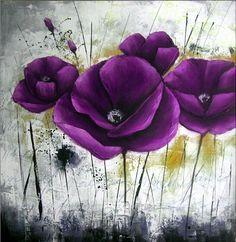 cuadros modernos famosos Acrylic Flowers, Abstract Flowers, Abstract Canvas Art, Acrylic Art, Sunflower Art, Fabric Painting, Painting Doors, Interior Painting, Painting Tips