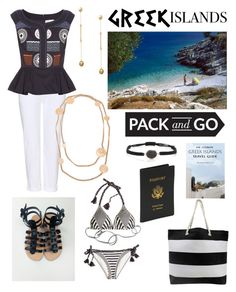 """Pack & Go:  Greek Islands"" by tammy-gardner on Polyvore featuring Paolita, Joanna Cave, J Brand, Peter Pilotto, Elena Votsi, Chanel, Royce Leather, Packandgo and greekislands"